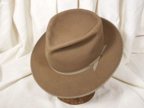 Vintage Pilgrim Classy Wide Brim Brown Fedora Hat