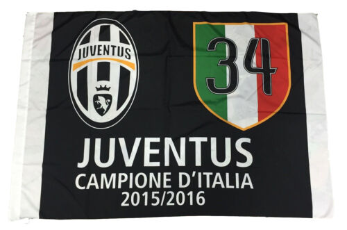 JUVENTUS FLAG OFFICIAL CHAMPION D' ITALY JUVE 100X140 34 SCUDETTO