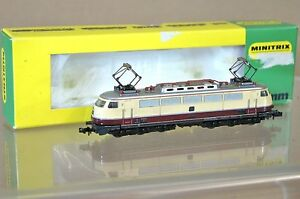 MINITRIX-N-2945-DB-BORDEAUX-CREME-TEE-INTERCITY-CLASSE-BR-E03-E-LOK-LOCOMOTIVE