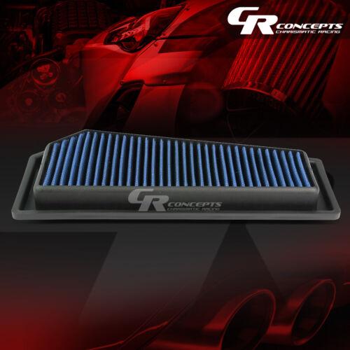 BLUE WASHABLE HIGH FLOW AIR FILTER PANEL FOR 12-15 MERCEDEZ-BENZ C//SLK250 1.8L