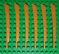 Lot of 4 NEW LEGO Pearl Gold Minifigure Minifig Scythe Weapon Sword Blade 98137