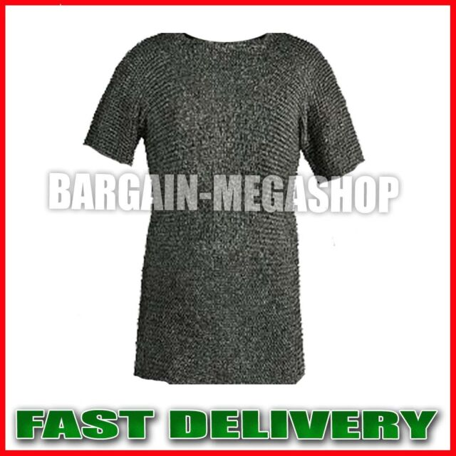 Chainmail Shirt  Flat Riveted w/ Flat Washer Medieval Chainmail Haubergeon NJ1
