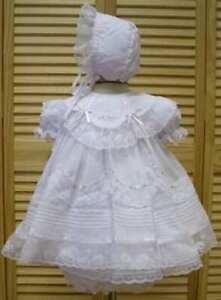 Will-039-beth-Gorgeous-Newborn-Baby-Girl-Fancy-Portrait-Dress-Lace-Bonnet-NWT-Sz-0