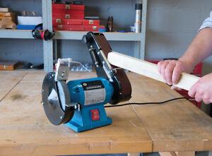 Diy 240w Bench Grinder Amp Belt Sander Power Tools Top