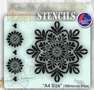 Mylar-Furniture-Stencil-19-5cm-Mandala-Wall-Stencil-Shabby-Chic-French-Stencil