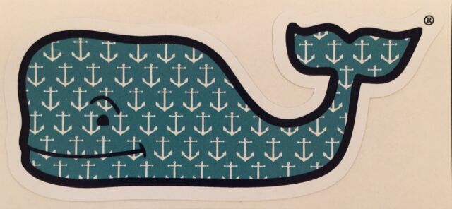 VINEYARD VINES WHALE 4TH OF JULY WHALE STICKER DECAL SOUTHERN PROPER