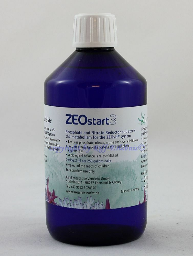 Zeostart 3 Korallenzucht Coburg 500  contro Fosfato Nitrato  L