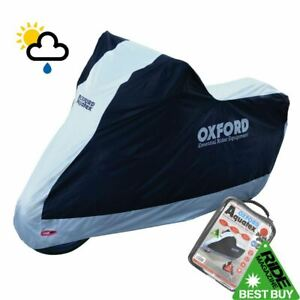 SUZUKI-GSR750-Oxford-Motorcycle-Cover-Waterproof-Motorbike-White-Black