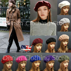 31401816045c3 Women s Girl 100% Wool Warm Winter Baggy Classic French Fluffy ...