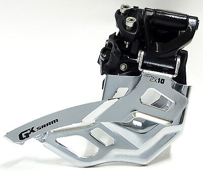 Sram XO Front Derailleur // 2x10 Speed NEW 31.8mm Top Pull High Clamp