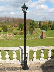 Victorian-Style-Single-Headed-Aluminium-Garden-Lamp-Post-2-2m-Tall