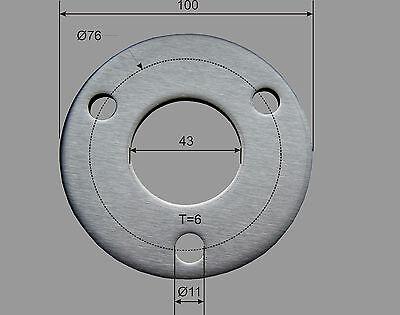Acier Inox Ronde Ø 100x6 mm V2A Troué Plaque Flans Couvercle Capuchon Tôle