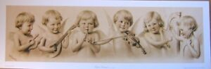 art-print-CUPID-039-S-ORCHESTRA-Victorian-Angel-Babies-music-vtg-repr-yardlong-32x10