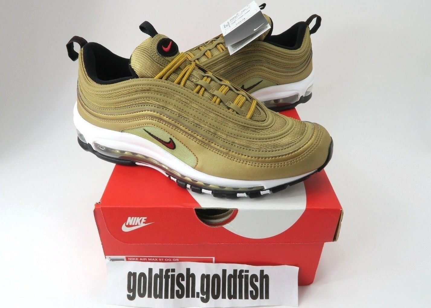 9e33f859de DS NIKE AIR 97 OG 884421 700 METALLIC gold BULLET VARSITY RED 2017 MAX QS  neznyi2249-Athletic Shoes