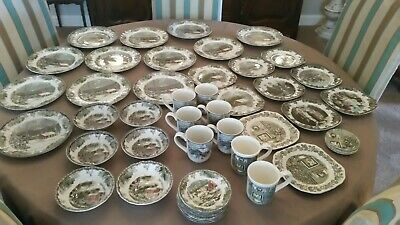 Johnson Brothers Friendly Village Christmas China 5o Piece Ebay