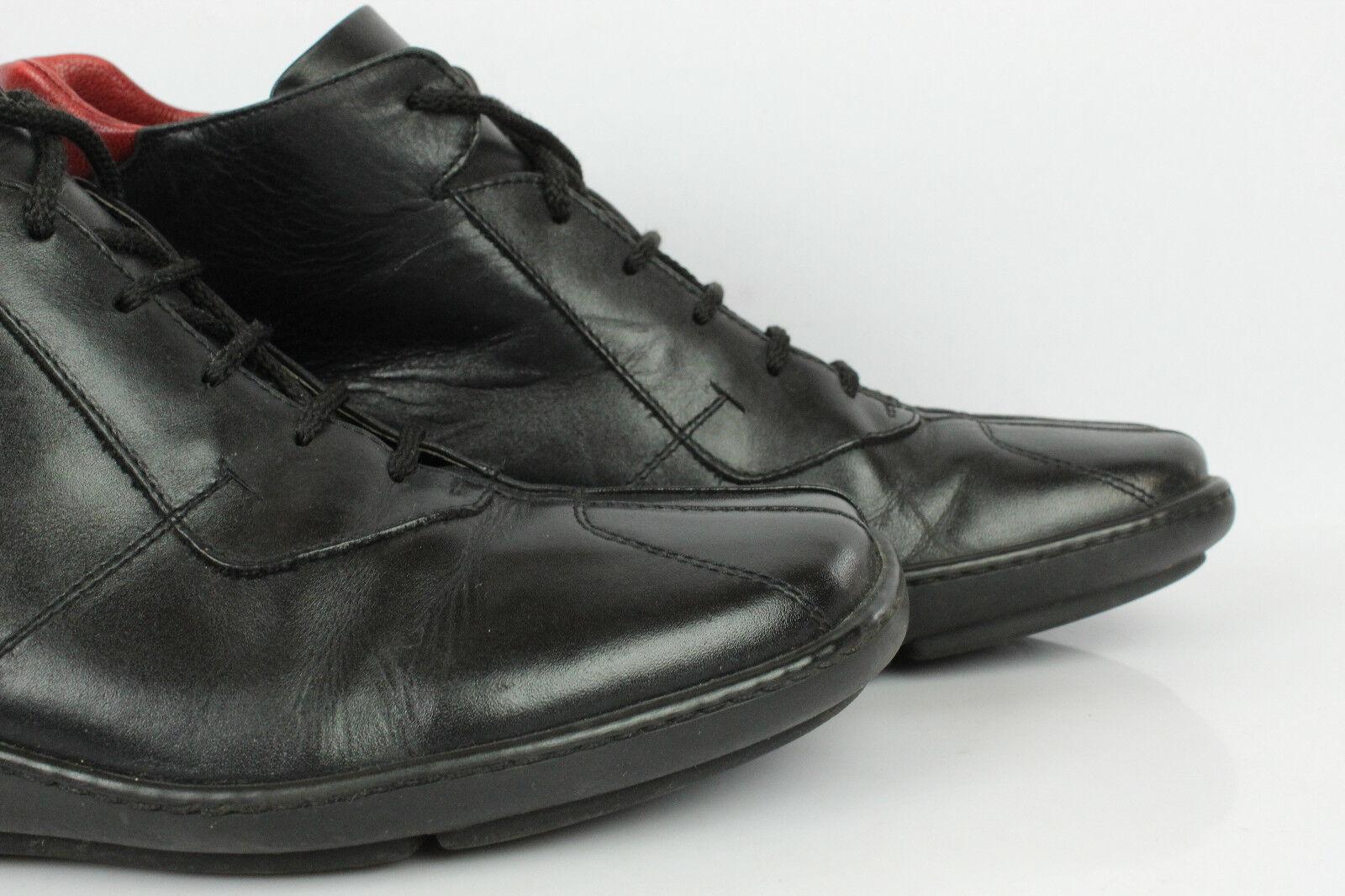 Oxfordschuhe hoch Leder Schwarz de 41 41 41   UK 7,5 sehr guter Zustand af0b5c