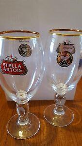 2-x-Stella-Artois-034-Wimbledon-Tennis-034-Limited-Edition-Pint-Glasses-NEW-STOCK