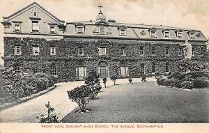 POSTCARD HANTS - SOUTHAMPTON - CONVENT HIGH SCHOOL - THE AVENUE - FRONT VIEW  RP