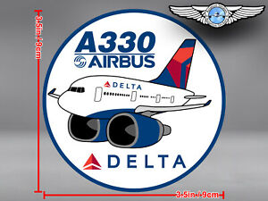 DELTA AIR LINES ROUND PUDGY AIRBUS A330 A 330 DECAL / STICKER