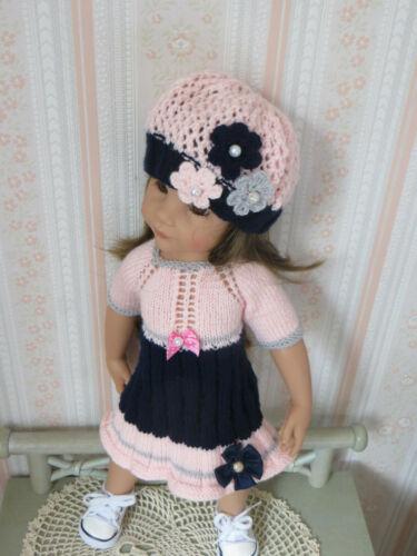 Fiche patron N° G21 vêtements tricotés  pour poupée Hannah de Gotz 50cms