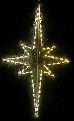 Nativity Outdoor Christmas Decorations.Christmas Nativity Star Xmas Outdoor Led Lighted Decoration Steel Wireframe Ebay