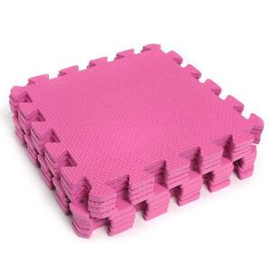 Pink-EVA-Interlocking-Foam-Mats-Kids-Safe-Play-Tiles-Soft-Play-Gym-Exercise-Mat