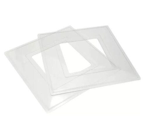 6x Clair Simple Interrupteur De Lumière de Doigt Surround plaque arrière plastique UK vendre