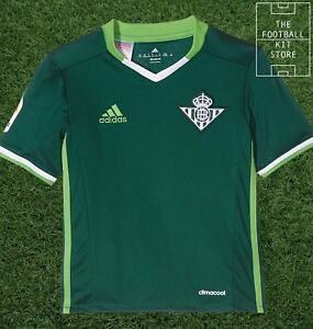 Details about Real Betis Away Shirt - adidas Football Jersey - Boys - All Sizes