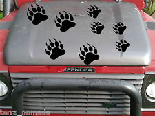 10 X Grizzly Bear Paw Print pegatinas Auto calcomanías Animal porciones de colores, 4x4