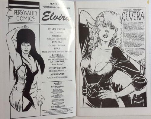 M6250 UNREAD 1992 Elvira Personality Comics Limited Edition Numbered Bio