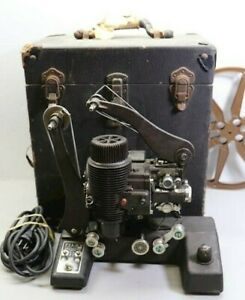 RARE-1930-BELL-amp-HOWELL-16MM-FILM-FILMO-129c-SILENT-PROJECTOR-w-CASE-WORKING