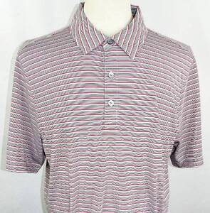 New Men/'s Cutter /& Buck DryTec Multi-Colored Striped SS Polo Shirt L NWT 4 Color