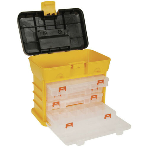 4-tray Tool Parts Storage Case Box Container Multiple Compartment Fishing Tackle