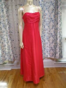 ONYX-Nite-Vintage-Prom-homecoming-formal-dress-size-8-Red-Organza