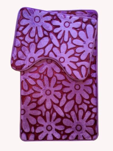 Espuma de memoria Alfombra de Baño Antideslizante Set 2 piezas de baño Alfombra Nuevo Puerta De Diseño Floral