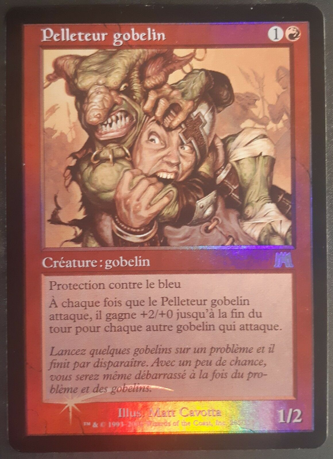 Pelleteur gobelin PREMIUM   FOIL VF Carnage - French Goblin Piledriver Mtg Magic