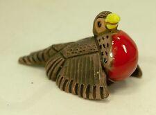 """Vintage Terra Cotta Frigate Bird Casals de Peru, 2.75"""" Mini Whimsical Figurine"""