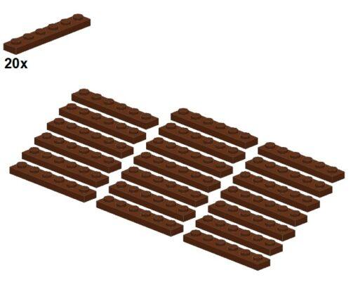 3666-11 - piastra-Marrone LEGO ® 1x6 Plates-reddishbrown 20stk