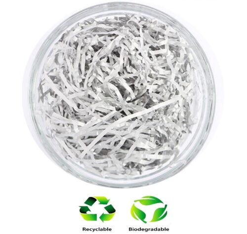 20g Metallic Silver Shredded Paper Hamper Soft Recyclable Shredded Tissue
