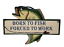 Retro Wall Plaque Born To Fish Forced To Work Wooden Fish Shaped Sign SG1029