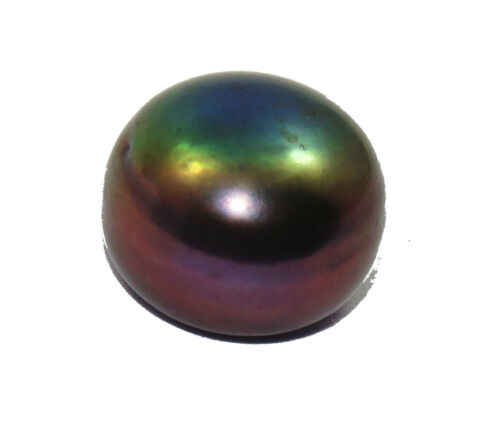 Natural Roundish Shape Excellent 7.05 Ct  Freshwater Black Pearl Gemstone