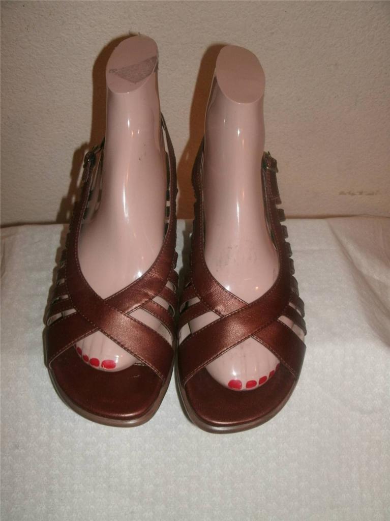 Dansko Mesizec Bronze Strappy Sandals  shoes Size 40 (US 9.5-10 )