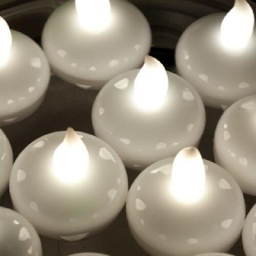 Floating LED Tea Lights White Fish Bowls Balloon Light for Wedding Party Decor