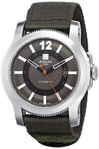 Zodiac-Jet-O-Matic-Stainless-Nylon-Strap-Automatic-Men-039-s-Watch-ZMX-ZO9101-NEW