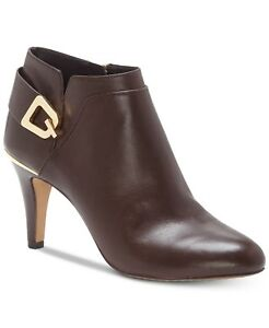 Vince-Camuto-Women-039-s-Vernaya-Ankle-Shooties-Size-9M-Brown-Leather-MSRP-129