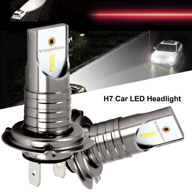H7 LED Headlight CSP Seoul Chip Bulbs Canbus Error Free Auto Car Driving Lamps