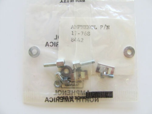 1x Amphenol Cooper Interconnect 17-768 D-Sub Hardware Screw Lock Assembly NOS