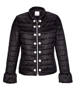 Stepp-Jacke-Hochwertig-Damen-Parker-Tencoat-Groesse-46-schwarz-mit-Perlen-NEU