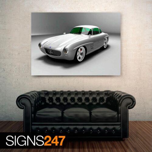 0534 Mercedes Benz SL Gullwing Panamericana Voiture Affiche-Poster Print