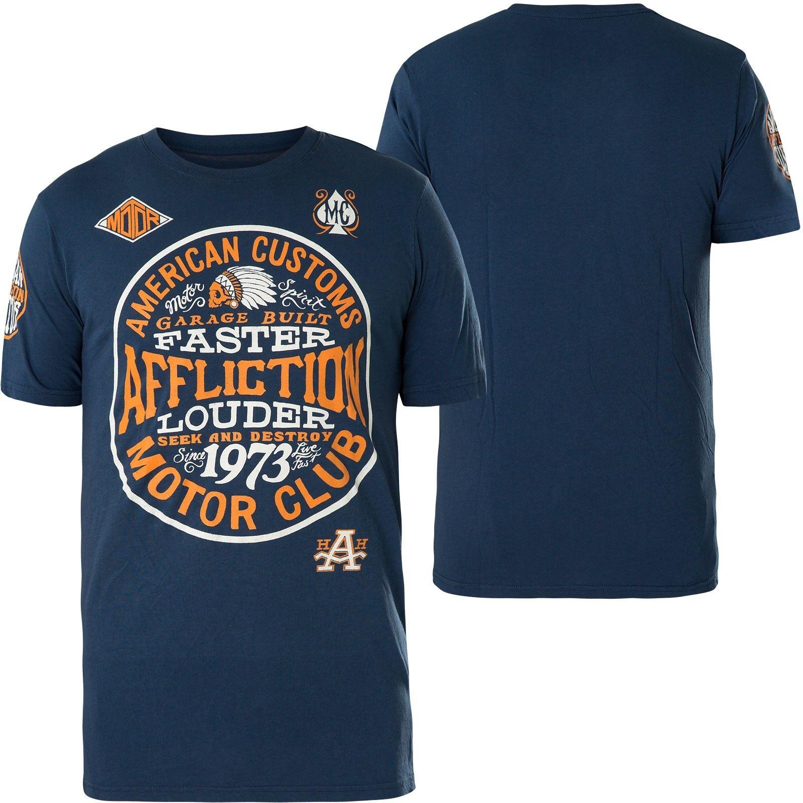AFFLICTION T-Shirt AC Petrol blue T-Shirts